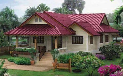 Traditional Tropical Malay Garden House Village House Design Small House Design Tropical House Design