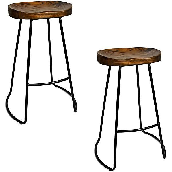 Superb Cedro Tractor Bar Stool Set Of 2 Bench Stools Tractor Caraccident5 Cool Chair Designs And Ideas Caraccident5Info