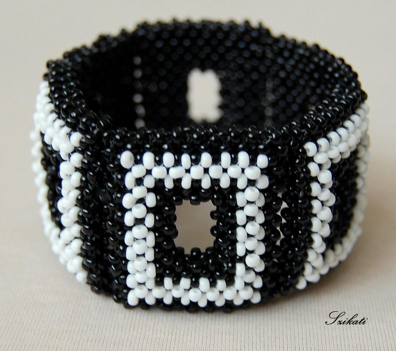Black  white RAW bracelet
