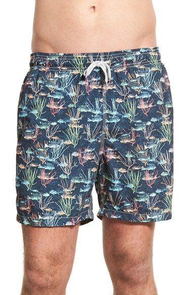 3410970ee40d8 Michael's Swimwear 'School of Fish' Print Swim Trunks | Summer Style ...