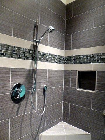 Grey Wood Grain Tile Bathroom Ideas Google Search