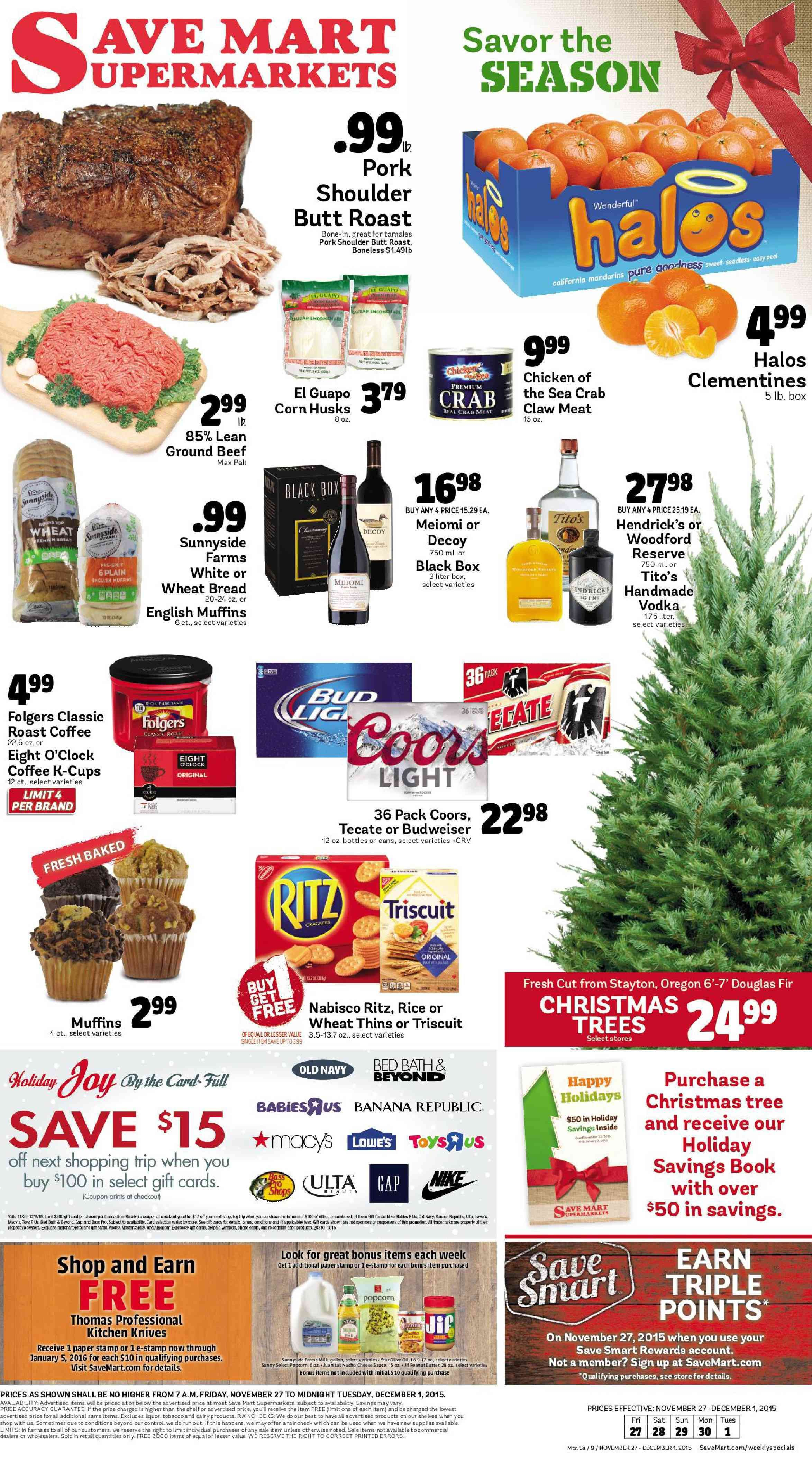 Save Mart Christmas Trees 2020 Pin on OLCatalog.Weekly Ads