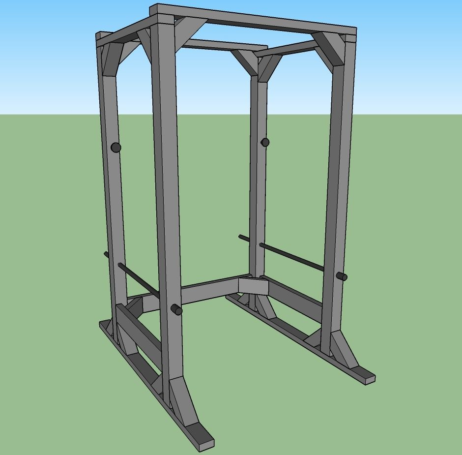 Plan for making power rack yourself homemade power rack for Diy power rack