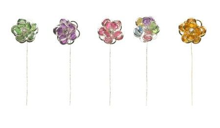 SO-2711S-16S - LOMEY® Flower Gems available in 6 colors - box of 6