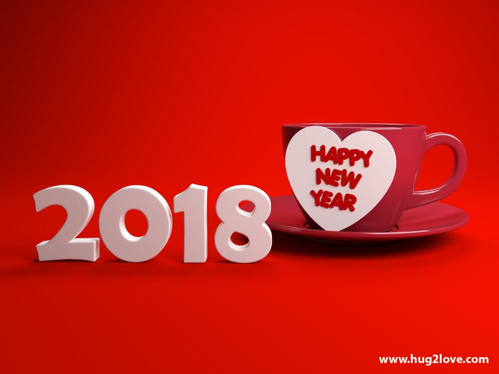 red new year 2018 image love cup romantic 2018 happy
