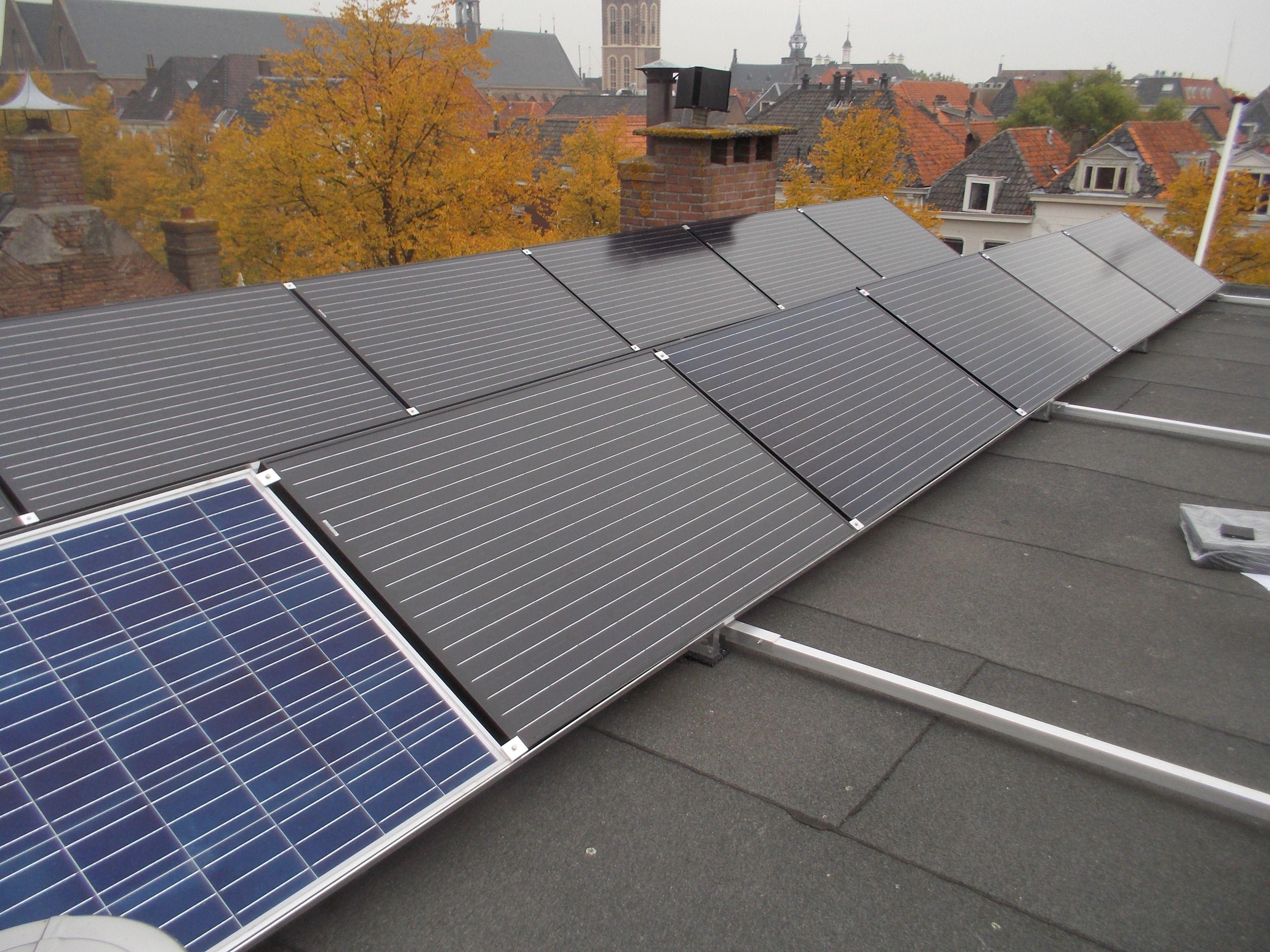 Dak Garage Vervangen : Optimalisatie plat dak opstelling aanwezige polypanelen