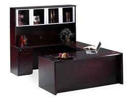 Mayline Corsica Series Luxury Executive Desk With U Shaped Design