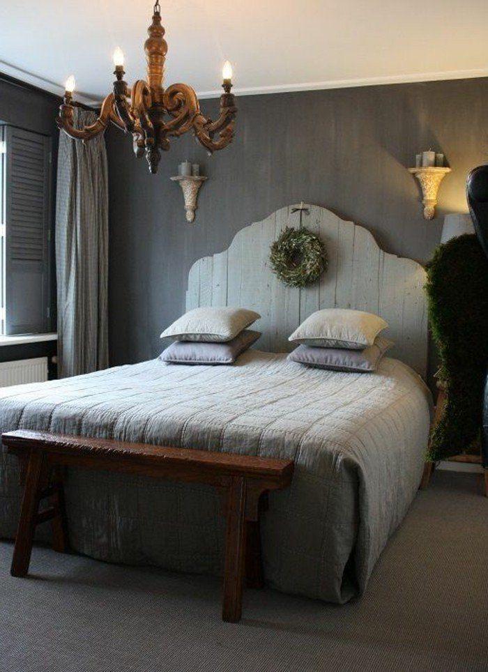 La t te de lit originale en 46 photos lit en palette - Idee tete de lit a faire soi meme ...