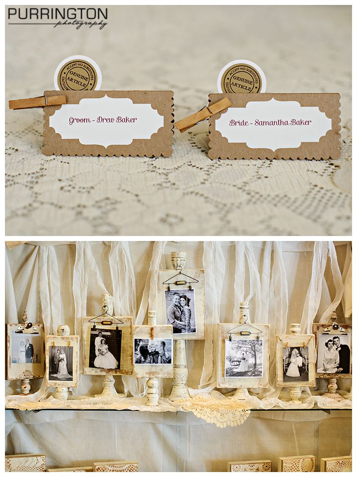 Seating card ideas and wedding reception decor with photos ...