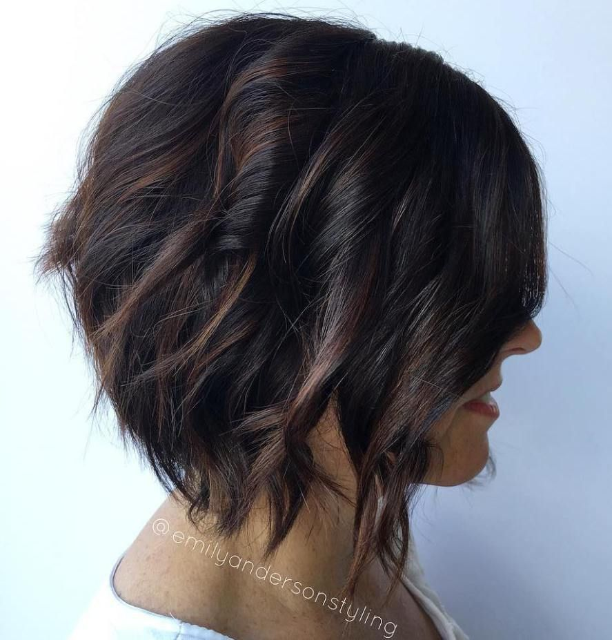 chocolate brown hair color ideas for brunettes black bob