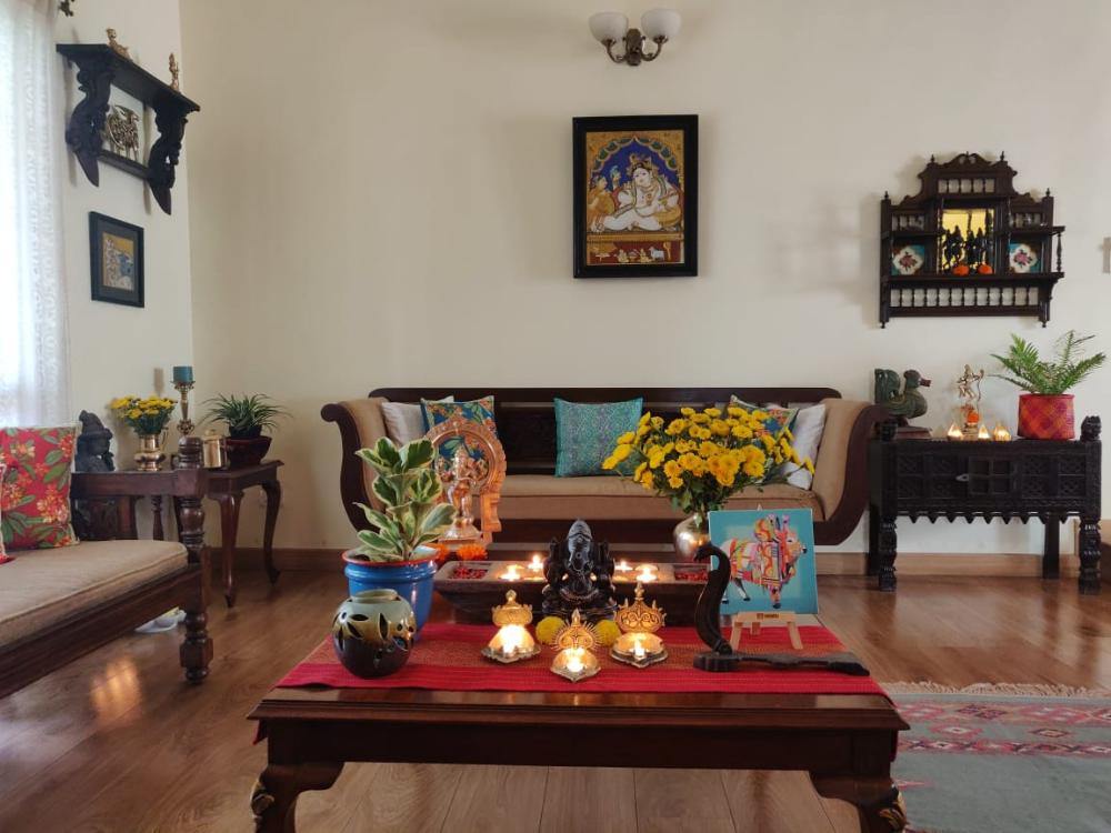 Photo of Jayalakshmy Krishna's Diwali decor at home ~ The Keybunch De…