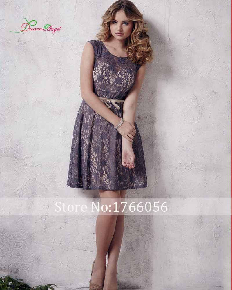 Pink cocktail dress for wedding  New Arrival Scoop Neck Elegant Lace Short Cocktail Dresses  Sexy