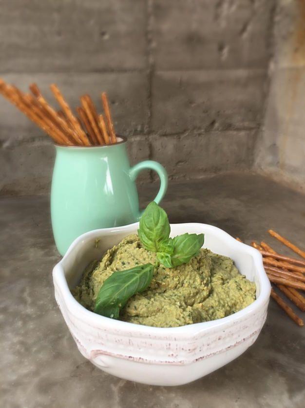Hummus de Albahaca, ultra delicioso y muy fácil de hacer, rica receta de verano!