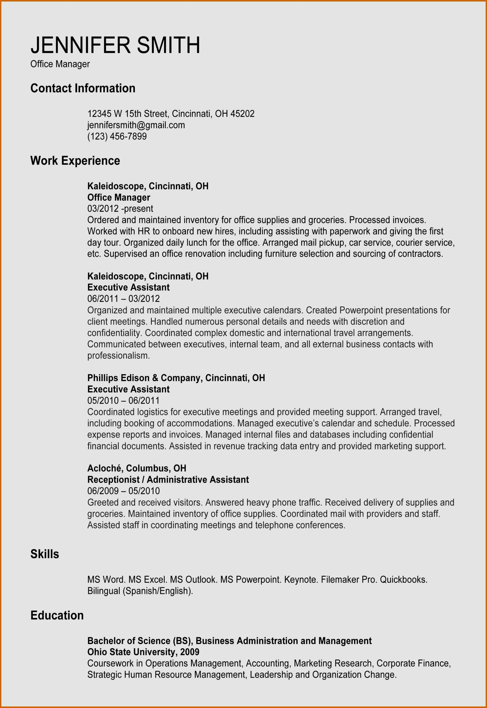 32 Awesome Executive Assistant Resume Skills In 2020 Office