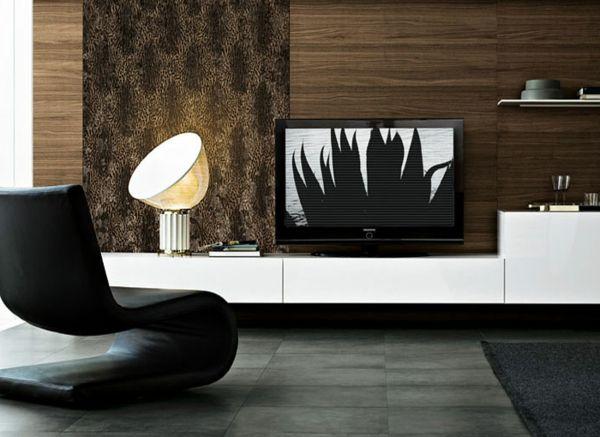 Wohnzimmer Paneele, deko paneele-elegantes-wohnzimmer - mit einem schicken schwarzen, Design ideen