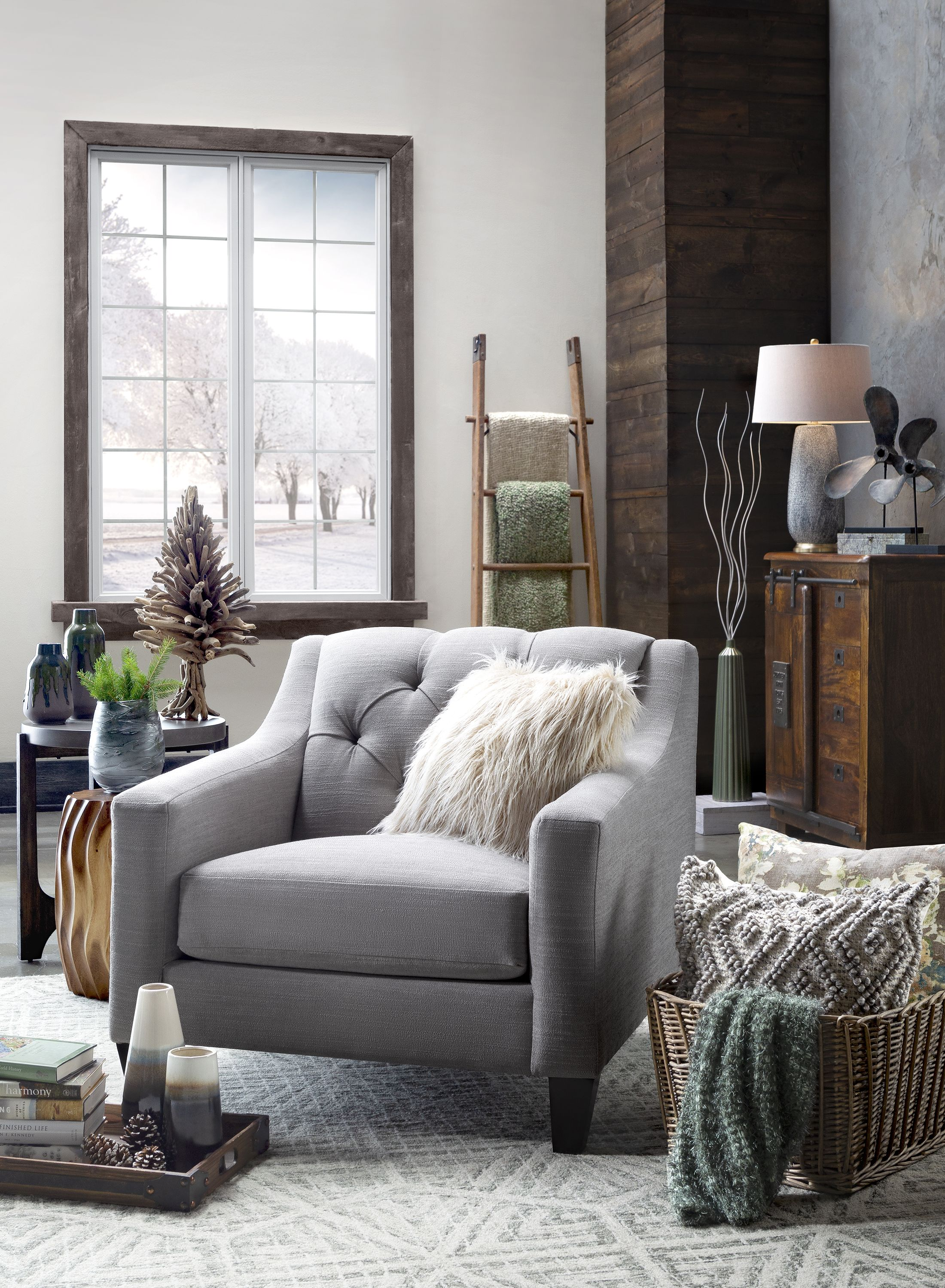 Densmore Chair Gray Living Room Chair Raymour Flanigan In 2020 Small Room Decor Grey Chair Living Room Living Room Chairs #small #armchair #for #living #room