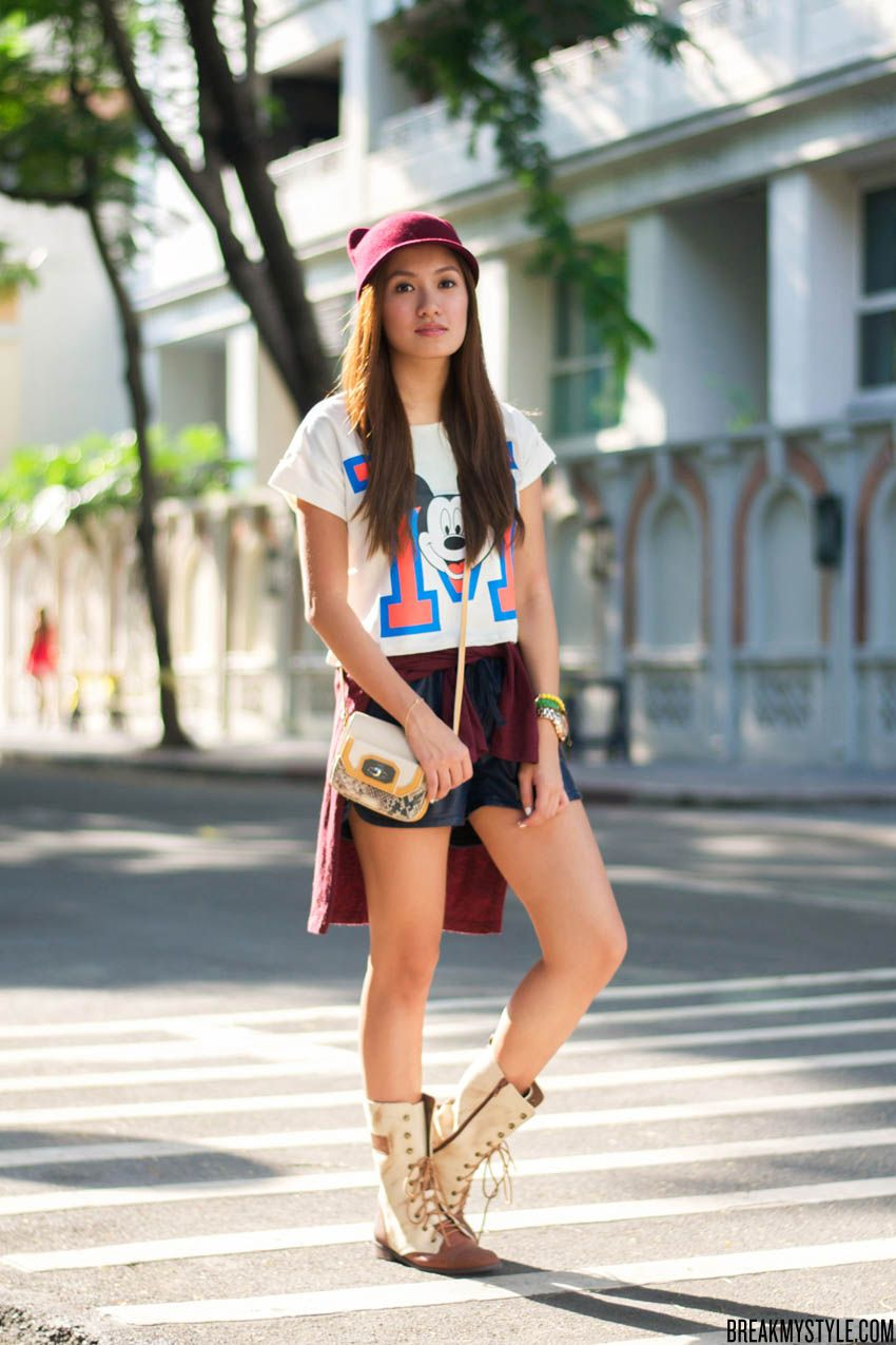 Style blogger @laureenmuy with her Rafe