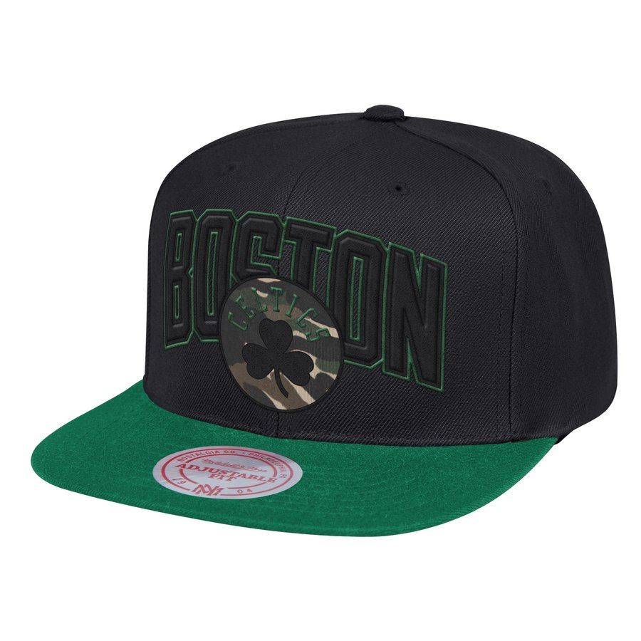 2f41f6d6 Men's Boston Celtics Mitchell & Ness Black/Kelly Green Woodland Covert II Adjustable  Snapback Hat, Your Price: $31.99