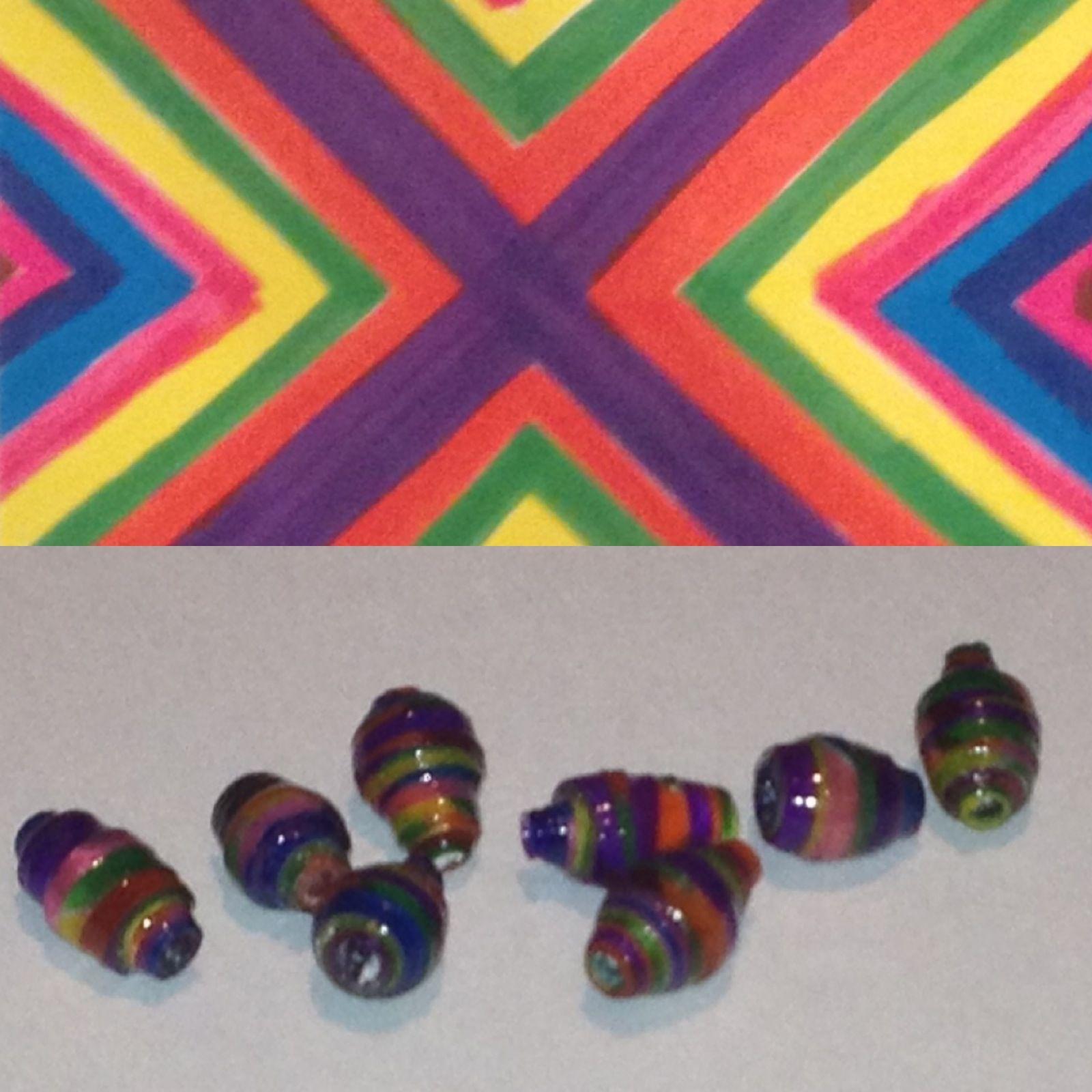 Original paper to bead