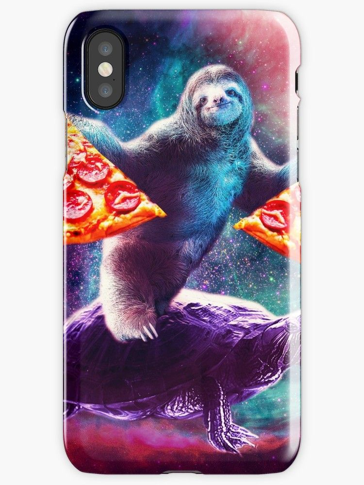 ea2387777 Buy 'Funny Space Sloth With Pizza Riding On Turtle' by SkylerJHill as a T- Shirt, Classic T-Shirt, Tri-blend T-Shirt, Lightweight Hoodie, Women's  Fitted ...