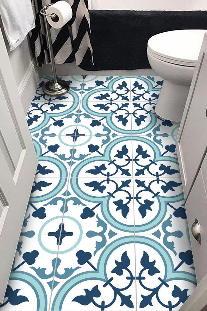 Floor Vinyl Tile Stickers Decals For Kitchen Bathroom Pack Of 12