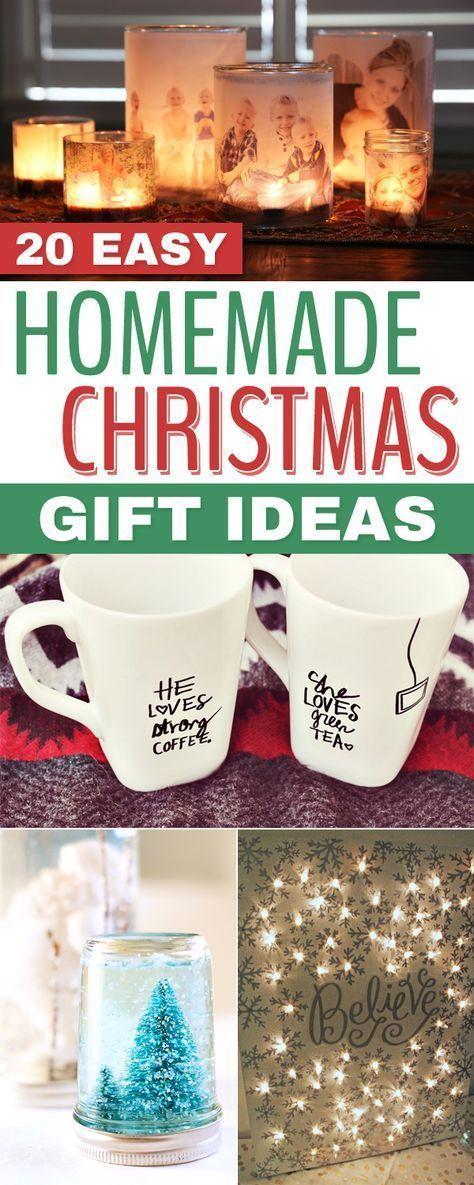 20 Easy Homemade Christmas Gift Ideas Christmas Pinterest