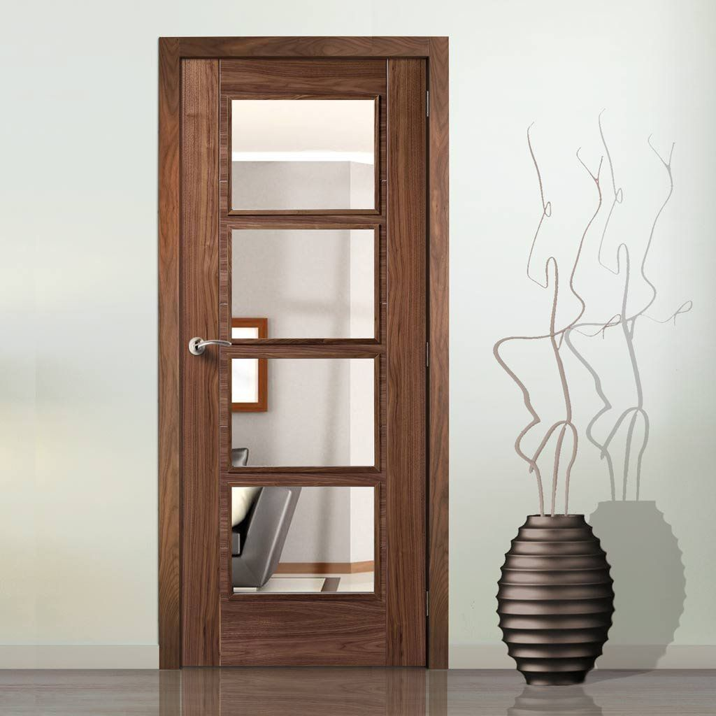 Vancouver walnut 4l fire door with clear glass is 12 hour fire vancouver walnut 4l fire door with clear glass is 12 hour fire rated and pre finished planetlyrics Images