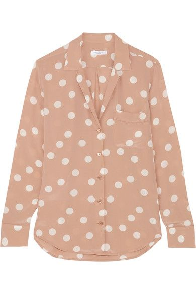 1359bdb9eb105 EQUIPMENT Keira polka-dot washed-silk shirt.  equipment  cloth  tops ...