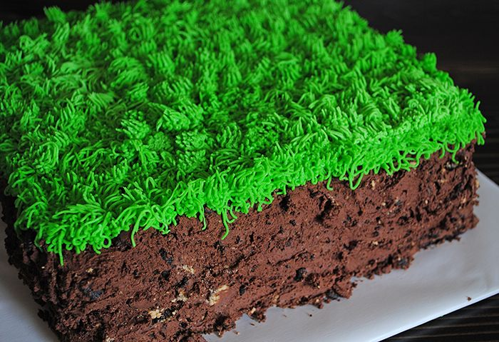 How to Make a Minecraft Grass Block Cake Recipe Supply list