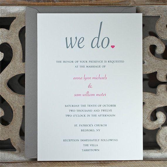 Wedding Invitations Summer Wedding Fall Wedding Simple