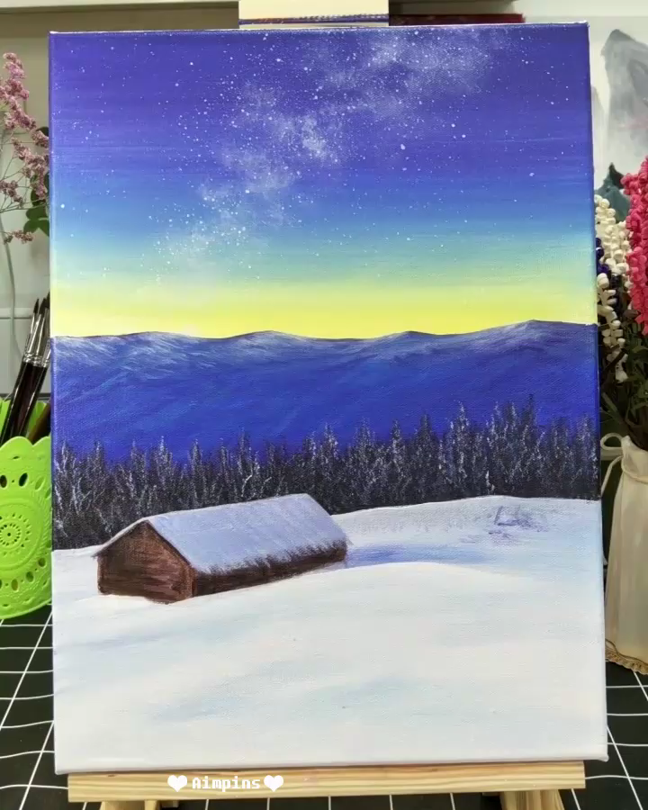 Beautiful Acrylic Painting Video Tutorial Part 68