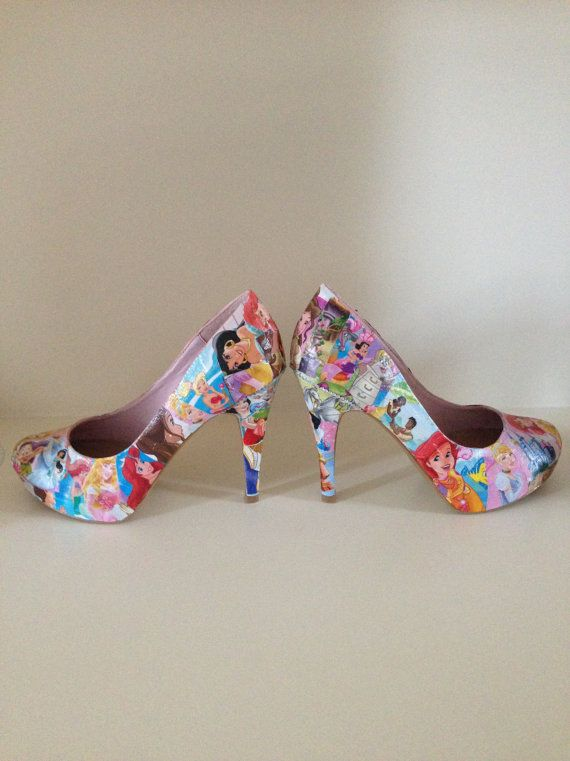 Princess decoupage shoes
