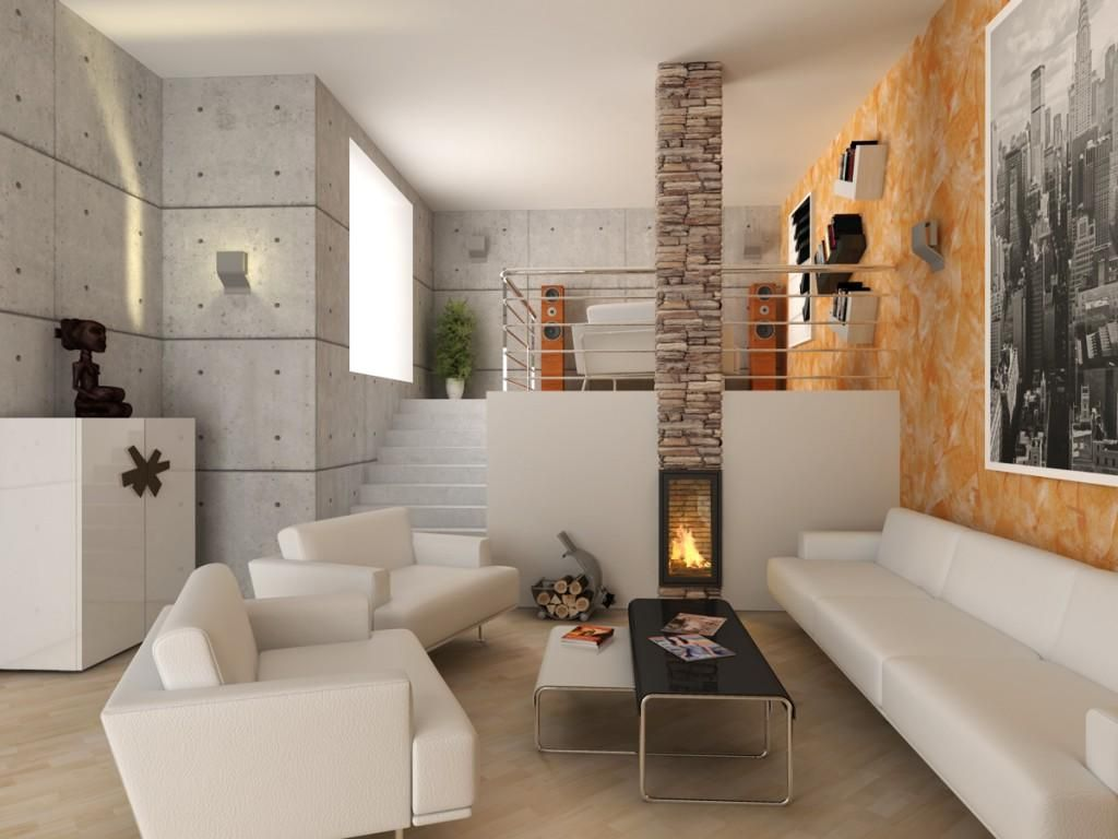 original diseño sala estar con escalera | Decoración de salas de ...