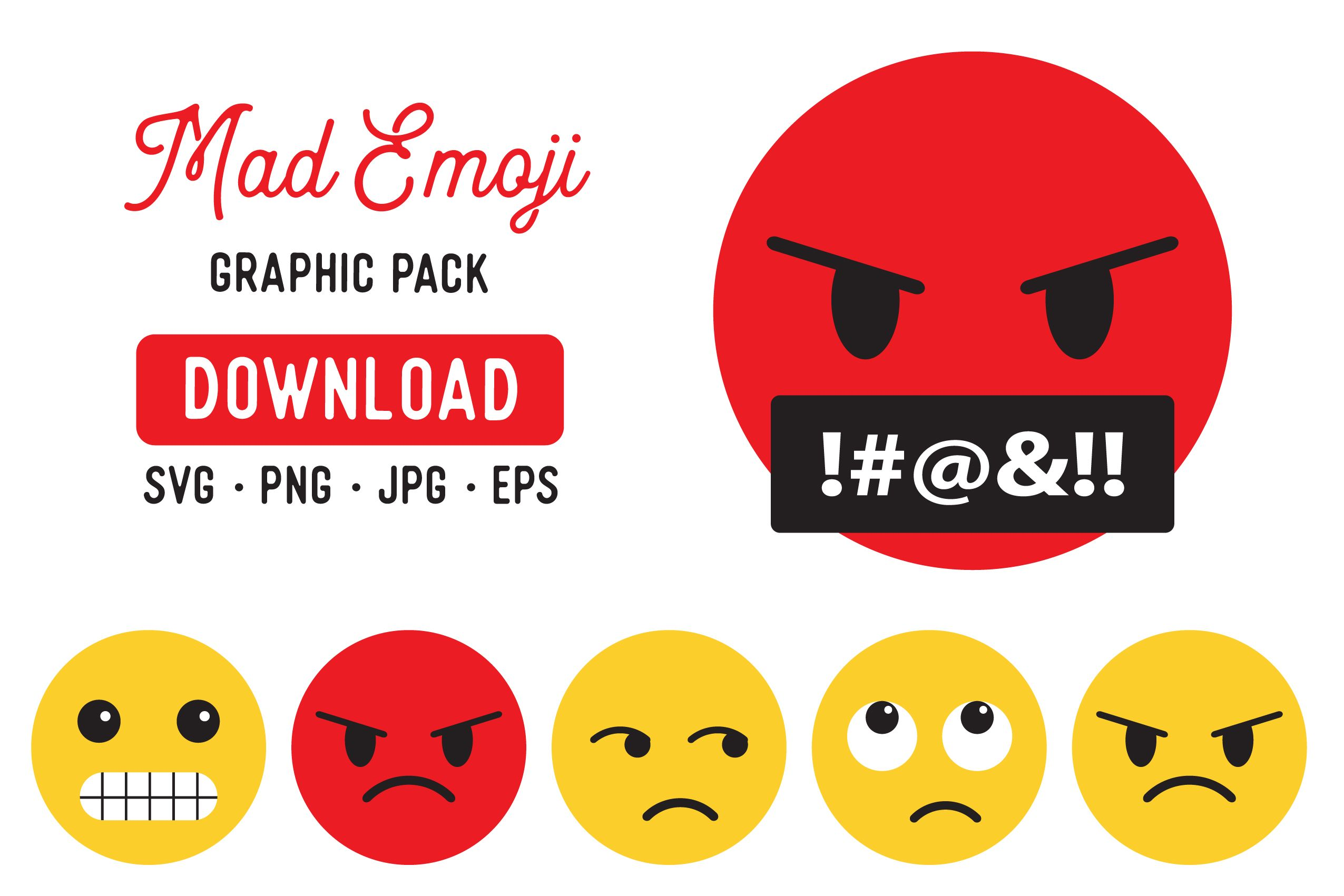 Angry Emoji Clipart Graphic Bundle Graphic By The Gradient Fox Creative Fabrica