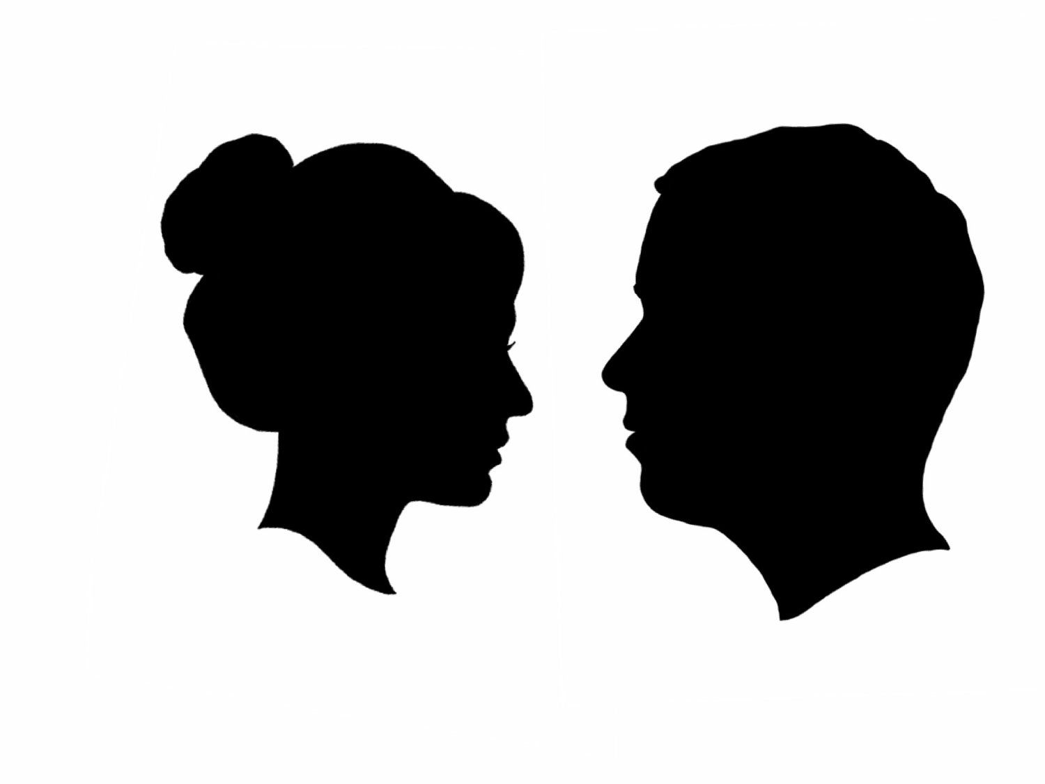 Side face silhouettes clipart clipart kid silhouette