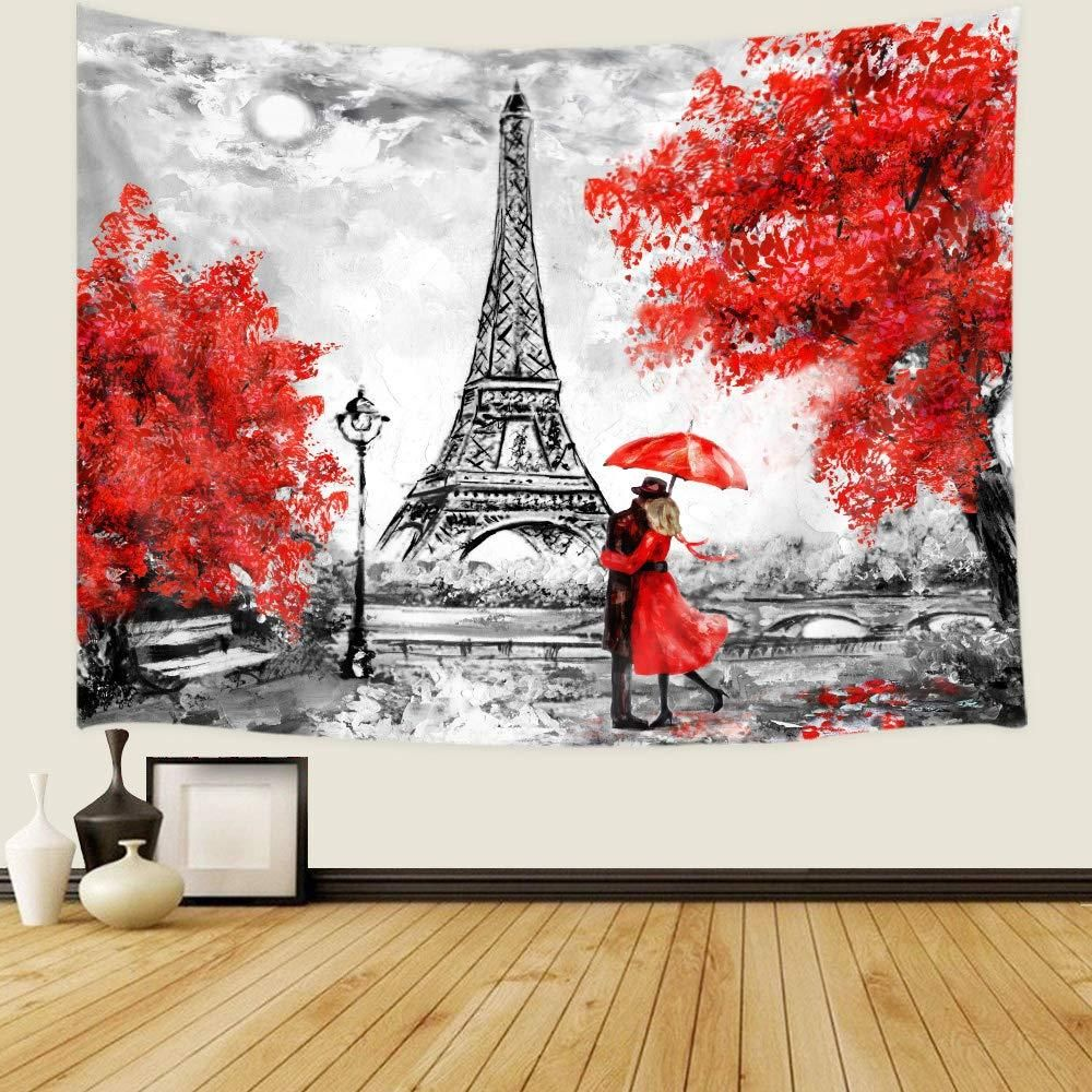 Wall Art Wall Living Room French City Landscape Oil Painting