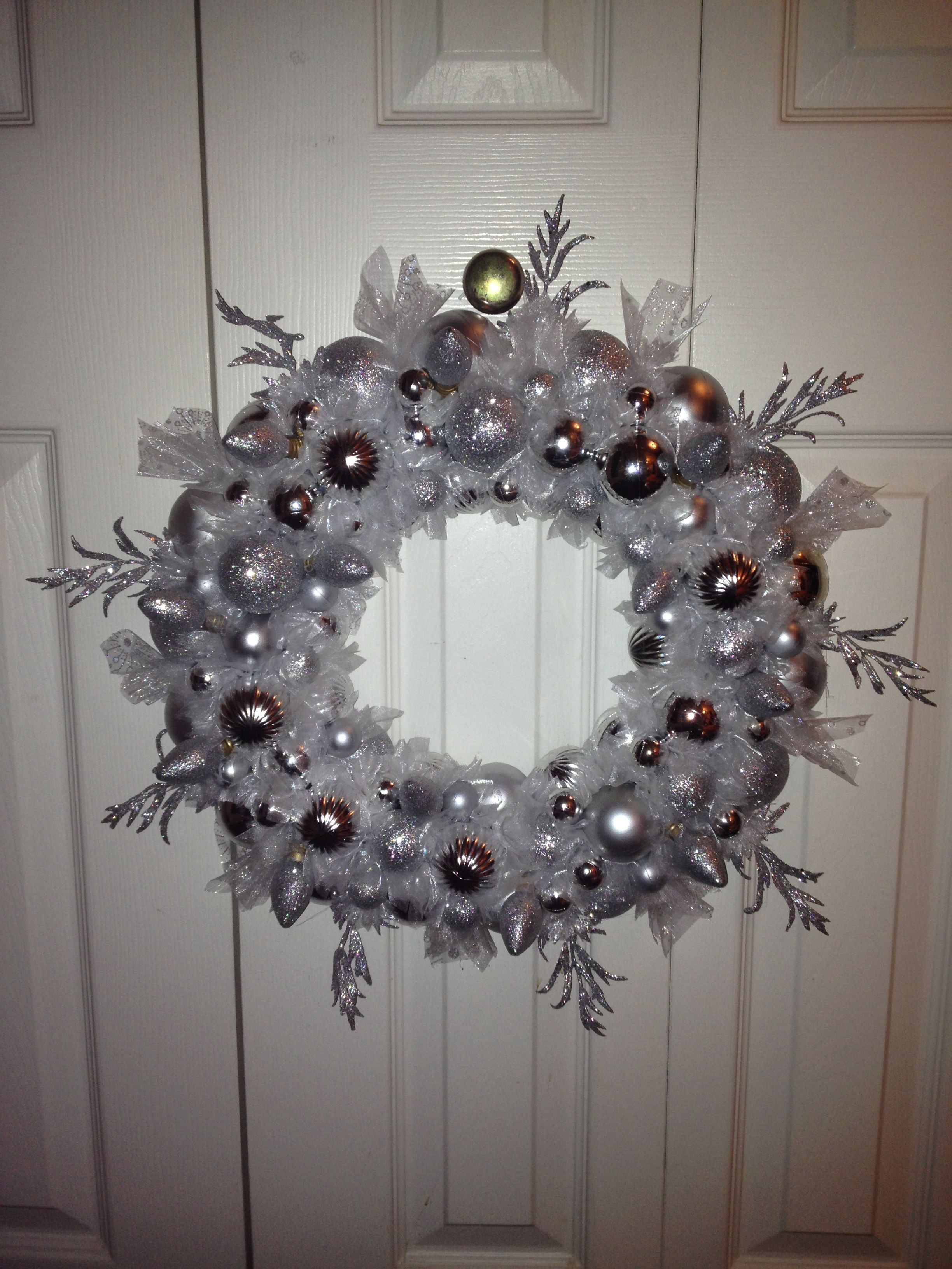 Christmas wreath DIY dollar store materials Wire hanger, Christmas ...
