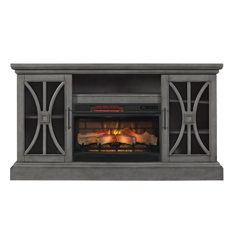 Duraflame 62 In W 5200 Btu Harbor Gray Wood Flat Wall Infrared