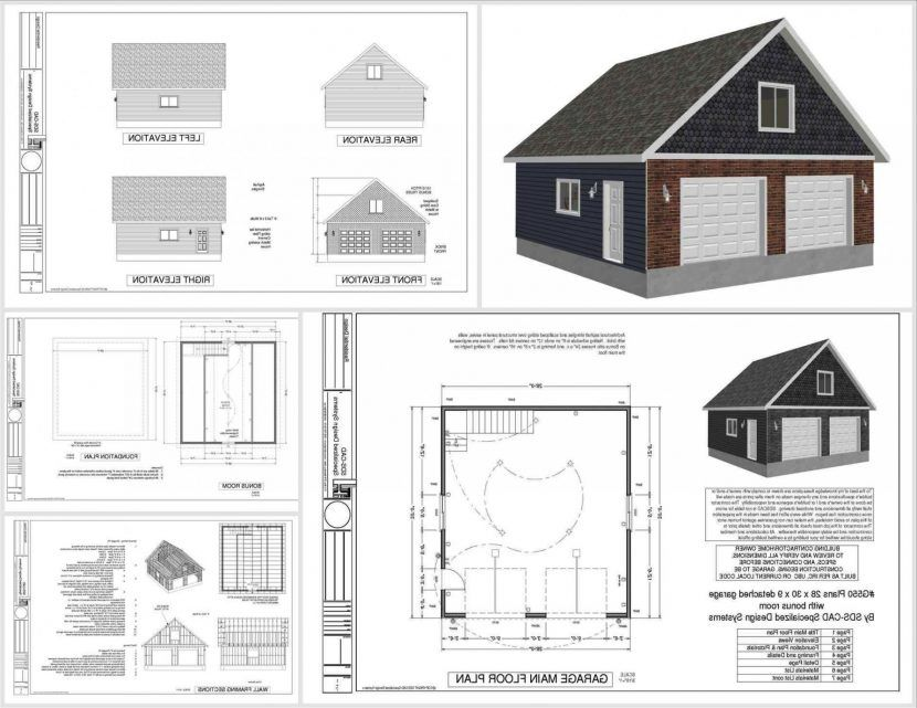 Wonderful Attached Two Car Garage Plans 8 With Loft Hous Double Car Garage Plans House Plan Garage Plans Free Garage Plans Barn Style House Plans