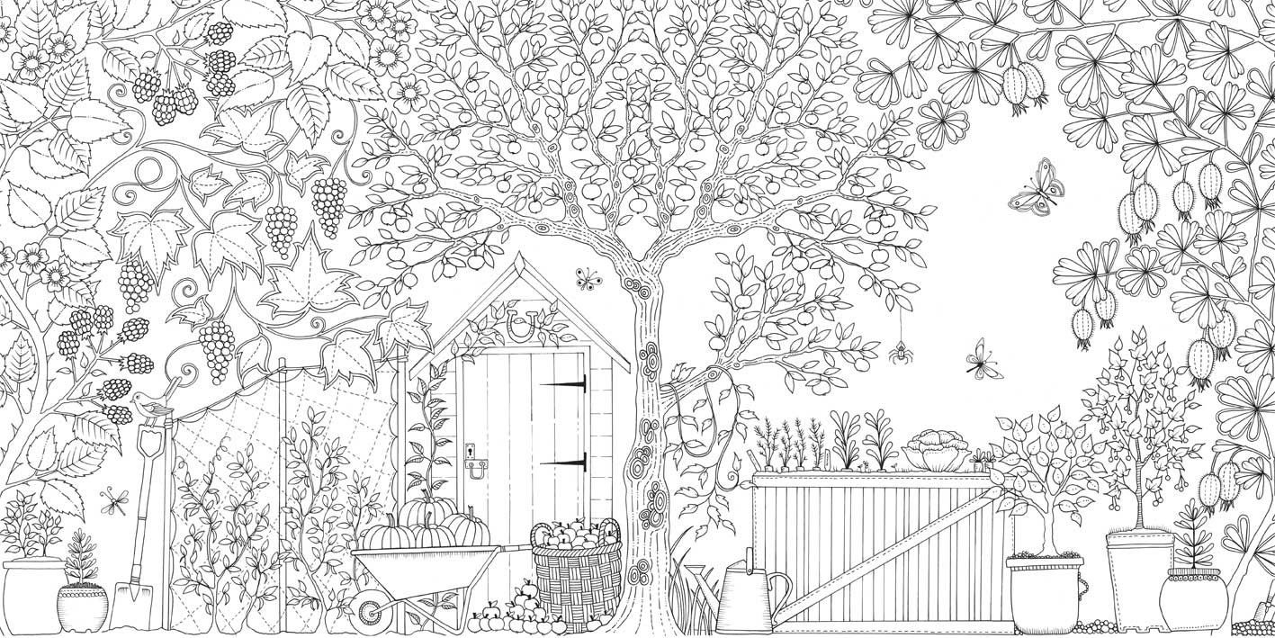 Coloring Books For Grown Ups Garden Coloring Pages Secret