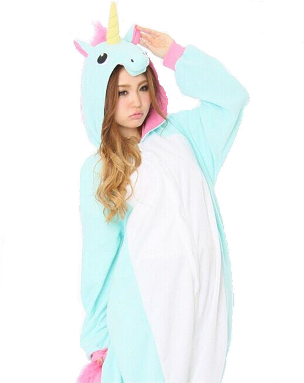 yarbar adultes kigurumi animaux pyjamas costume anime cosplay halloween licorne onesie amazon. Black Bedroom Furniture Sets. Home Design Ideas