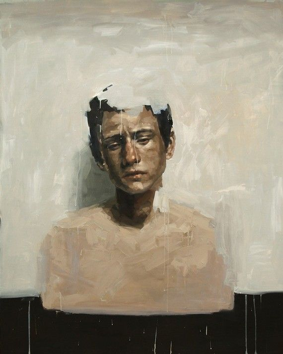 The Disappearing Boy, Archivierung Digital Fine Kunstdruck von Original Ölgemälde Portrait