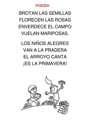 Poesía, adivinanza y trabalenguas LA PRIMAVERA (4 AÑOS)   educacion ...
