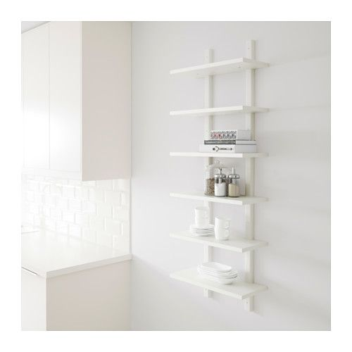 v rde wall shelf white width 19 5 8 50 cm depth 8 1 4 21 cm height 55 1 8 140 cm. Black Bedroom Furniture Sets. Home Design Ideas