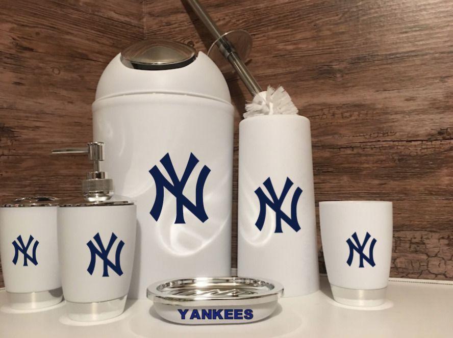 New York Yankees Man Cave 6 Piece Bathroom Set Unbranded In 2020