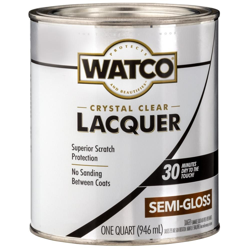 Watco 1 Qt Clear Semi Gloss Lacquer Wood Finish 6 Pack Wood Home Depot Paint Stain