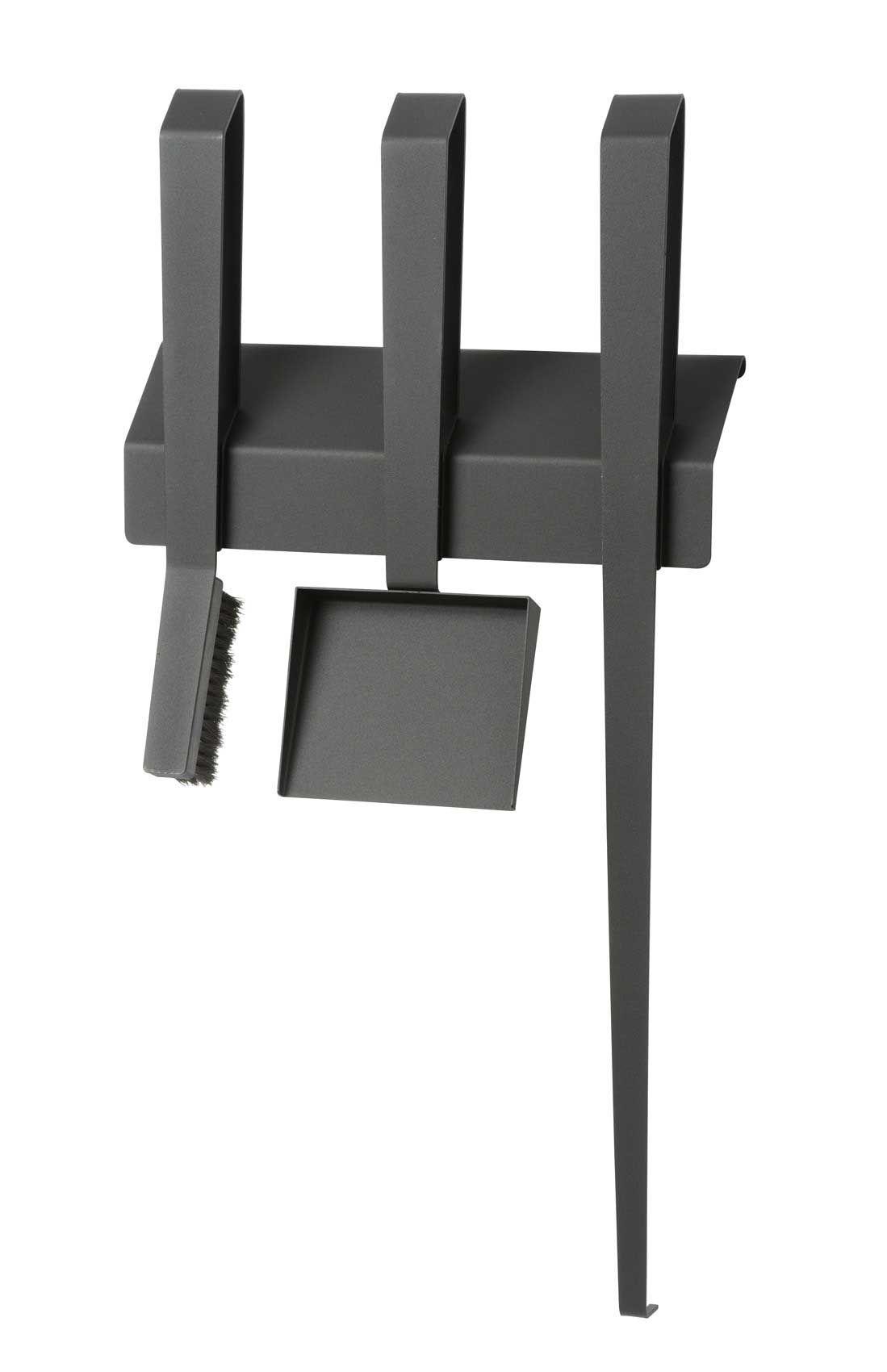 Schwarzer Stahl kaminbesteck edge iii 3 teilig wandhängend stahl schwarz