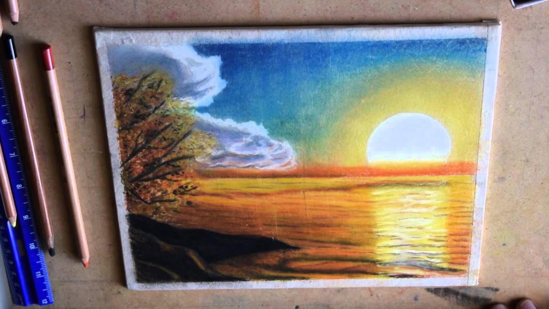 Como Pintar Un Paisaje Como Pintar Un Atardecer Como Pintar Paisajes Producción Artística Como Pintar