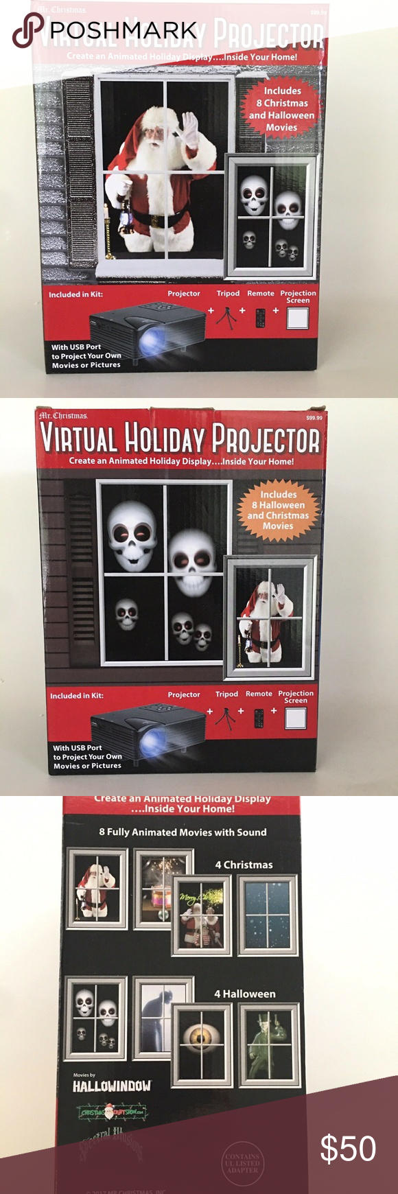 Mr Christmas Virtual Holiday Projector Mr. Christmas