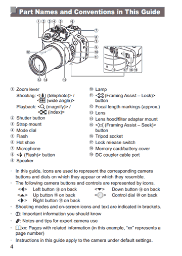 canon powershot sx50 hs camera user guide pdf cameras parts